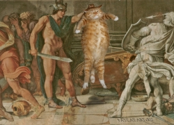 Annibale Carracci and Domenichino, Perseus and the Fat Cat, fresco at Farnese Gallery /    ,    ,    , 