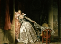 Jean-Honore Fragonard, Stolen Kiss /   ,  