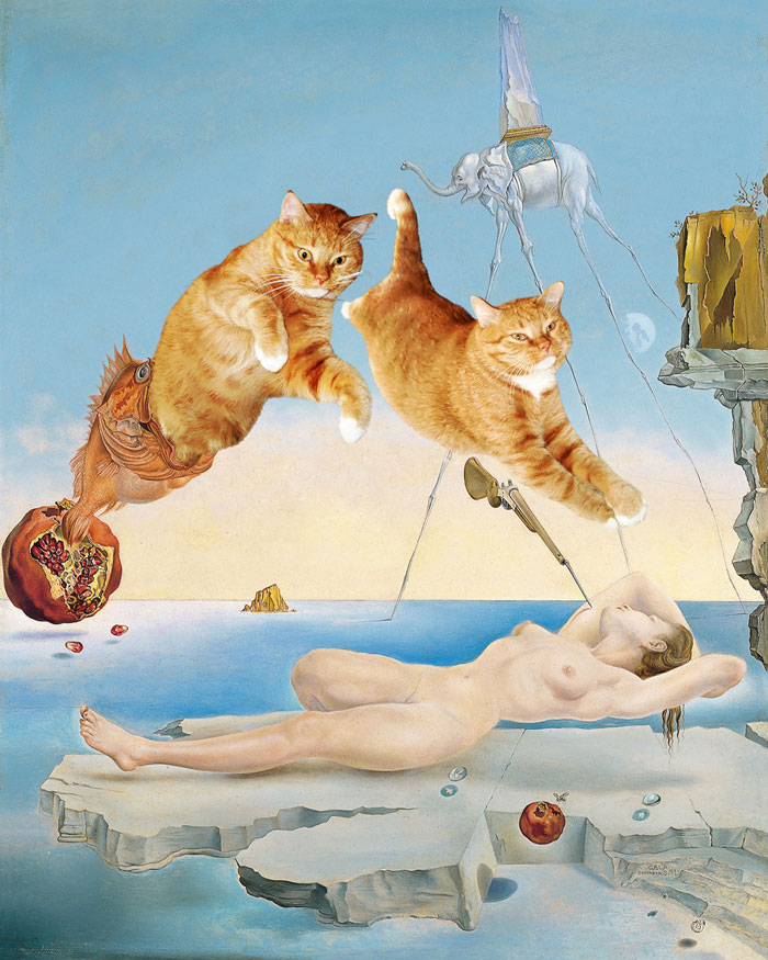 Salvador Dalí, Dream caused by the Flight of a Bee around a Pomegranate a Second before Waking up