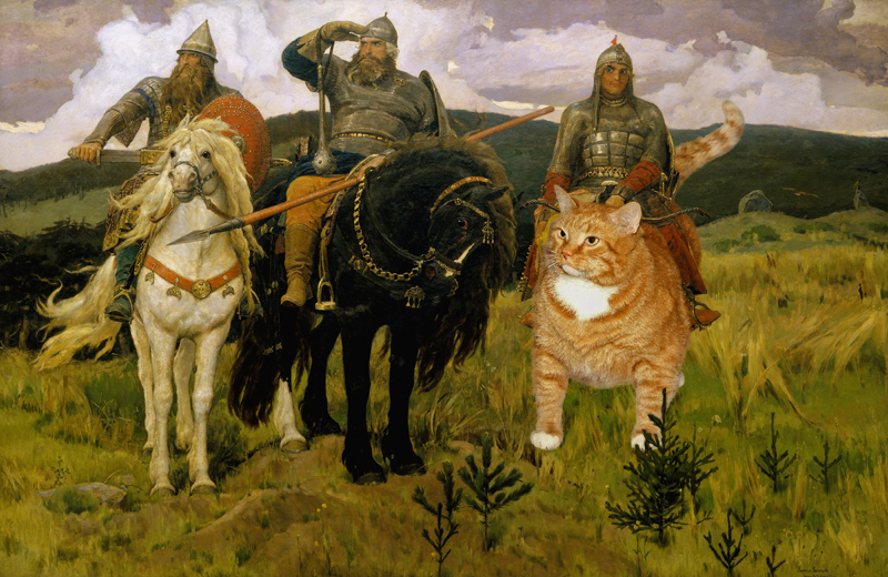 Viktor Vasnetsov, Russian Heroes (Bogatyri) and the Russian Hero Cat