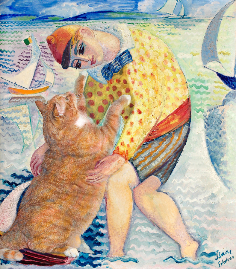  Isaac Grnewald, Boy with sailing cat