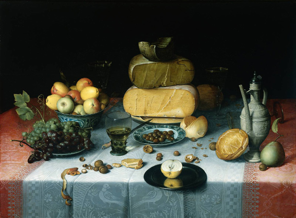 Floris van Dijck, Still Life with Cheeses