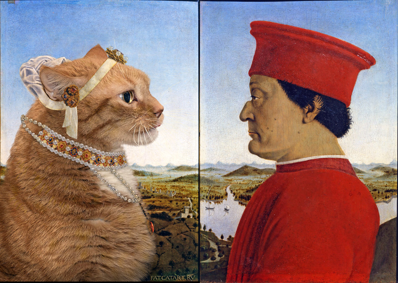 Piero della Francesca, Portraits of the Duke and Cat of Urbino