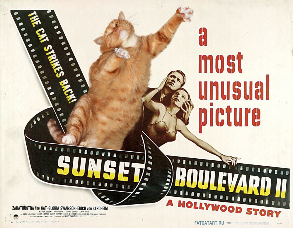 Sunset Boulevard II: The Cat Strikes Back! by fatcatart.ru