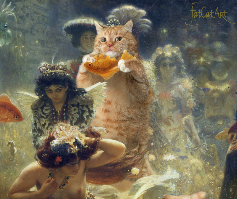 "Ilya Repin ""Sadko and the Underwater Fat Cat"", detail"