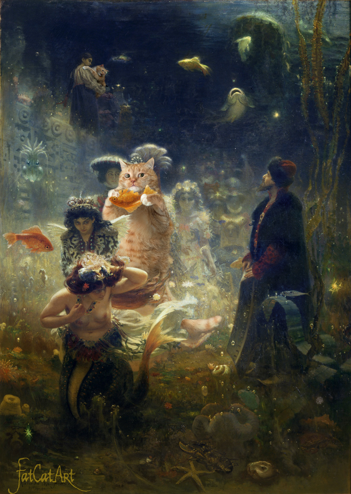 "Ilya Repin ""Sadko and the Underwater Fat Cat"""
