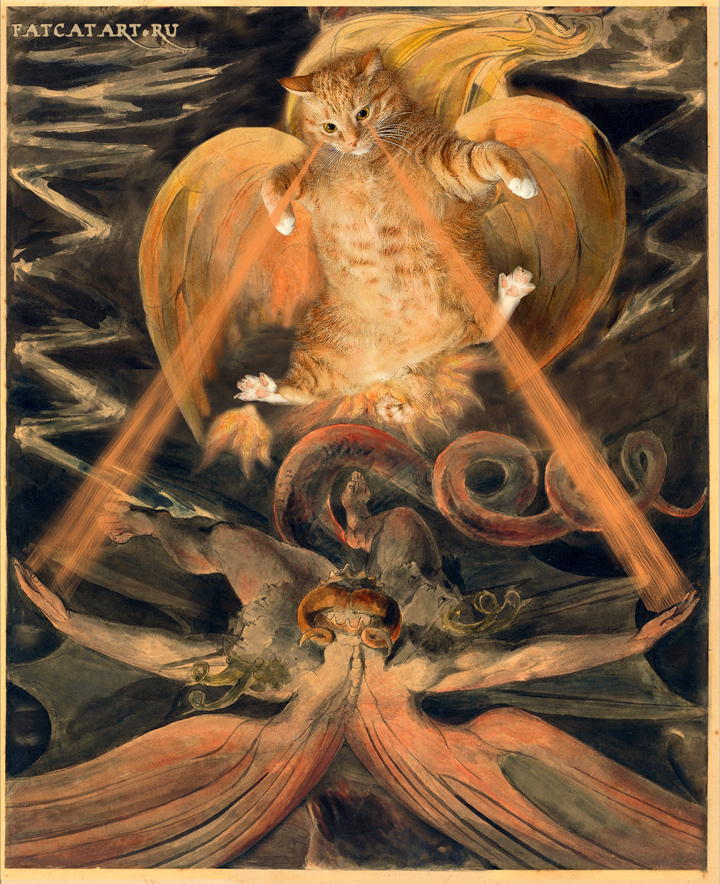 William Blake, The Great Red Dragon and the Great Laser Cat