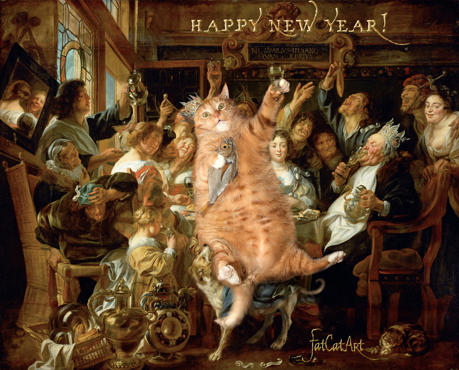 Jacob Jordaens, The Feast of Cats and Humans