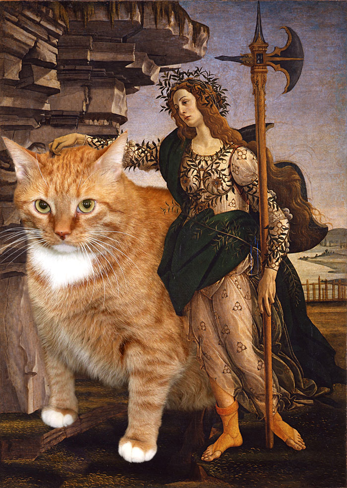 Botticelli, Pallas and the Cat