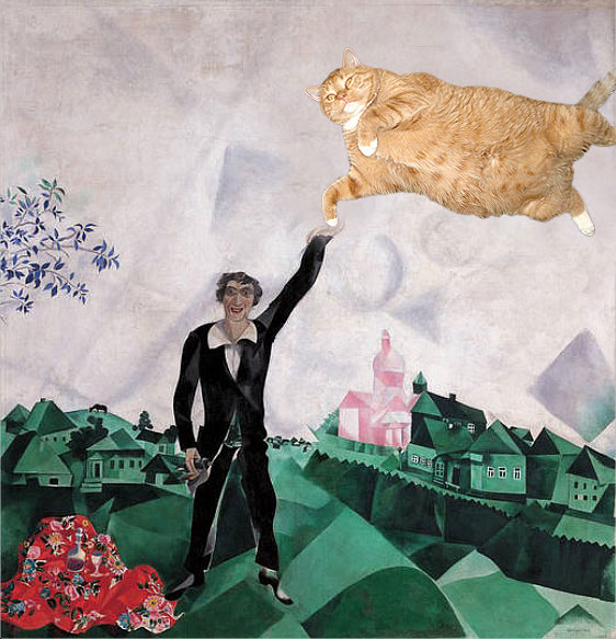Chagall, Lovers. Walk