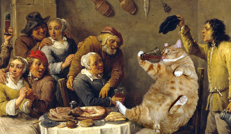 David Teniers Twelfth Night in detail