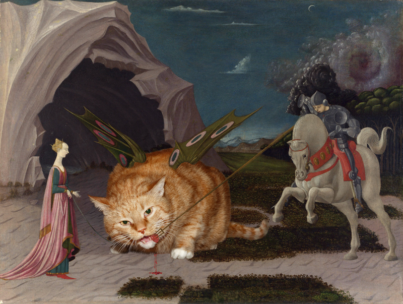 Uccello, Saint George feeding the  Winged Cat with organic food