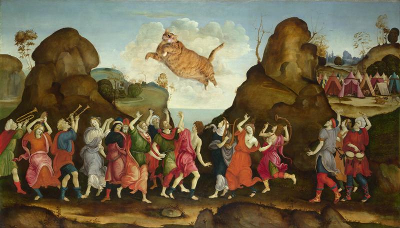 Филиппино Липпи, Всенародное поклонение Золотому Коту