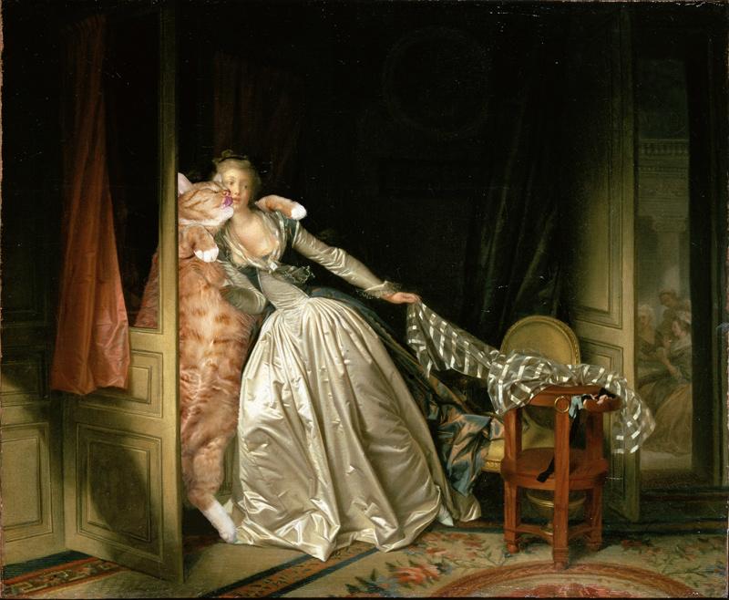 Jean-Honore Fragonard, Stolen Kiss