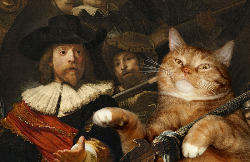 Rembrandt, The Night Watch, faces