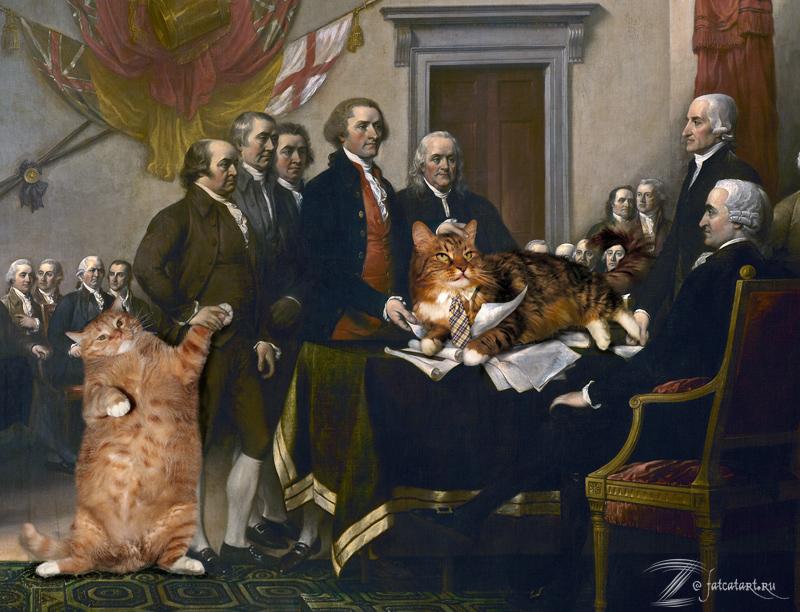 Джон Трамбулл, Декларация независимости, вблизи