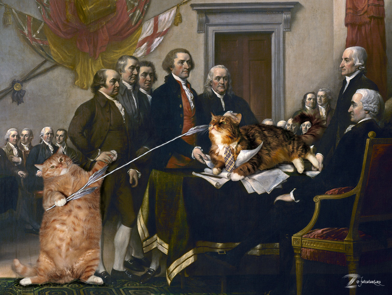 """John Trumbull's """"Declaration of Independence"""", first variant"""
