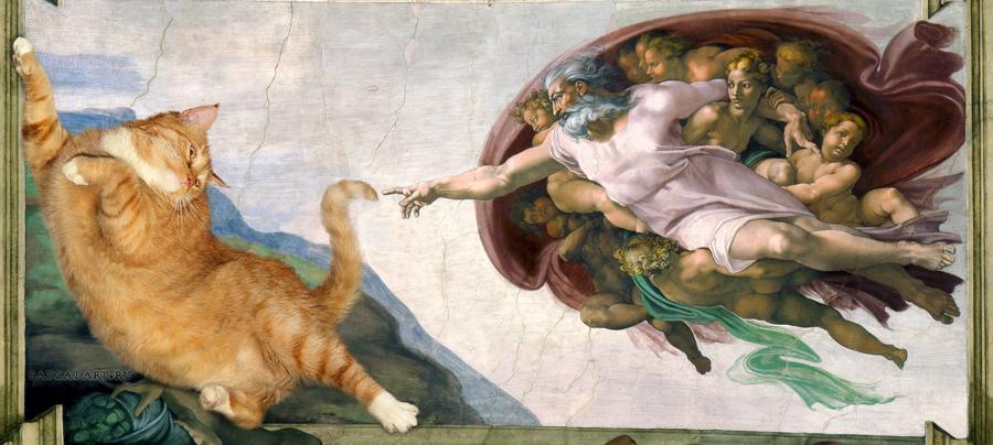 Michelangelo, The Creation of cAt-dam