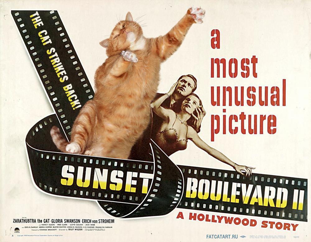 Sunset Boulevard II: The Cat Strikes Back! by fatcatart.ru