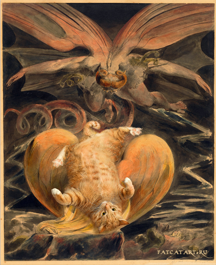 William Blake, The Great Red Dragon and the Cat Clothed with Sun