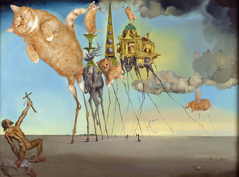 Salvador Dali, The Irresistable Temptation of St. Anthony
