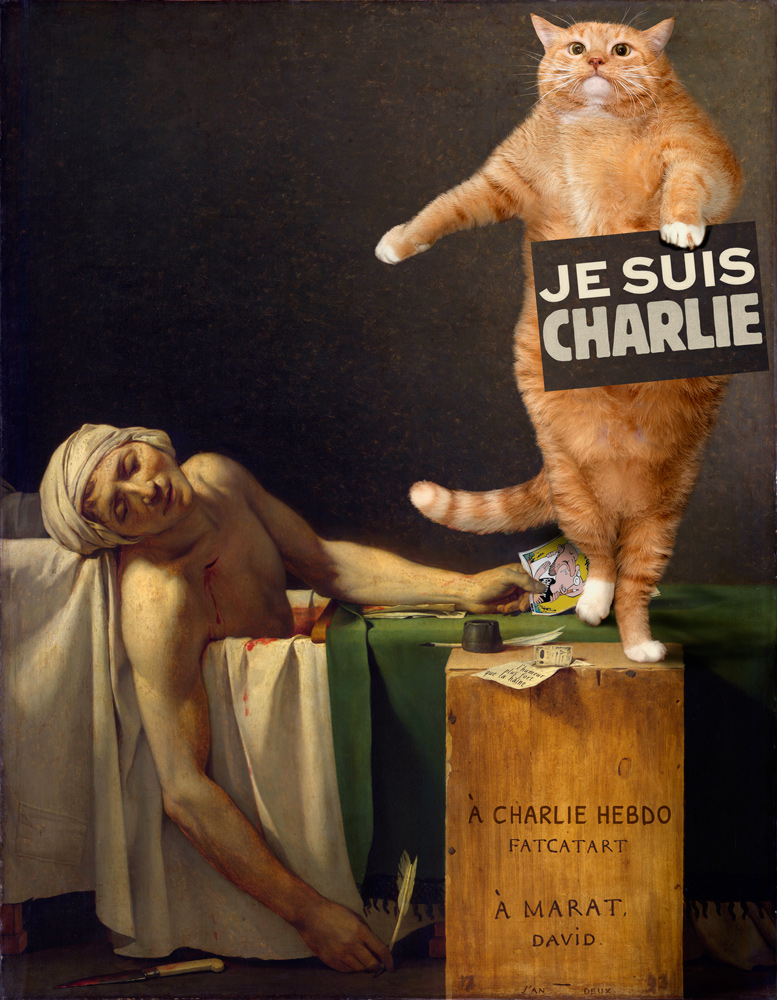 Jacques-Louis David, The Death of Charlie Hebdo